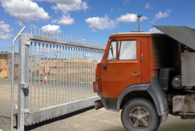 Truck at gate image